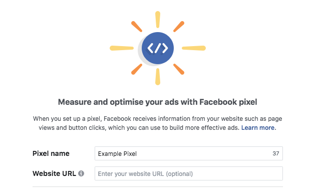 create new facebook pixel