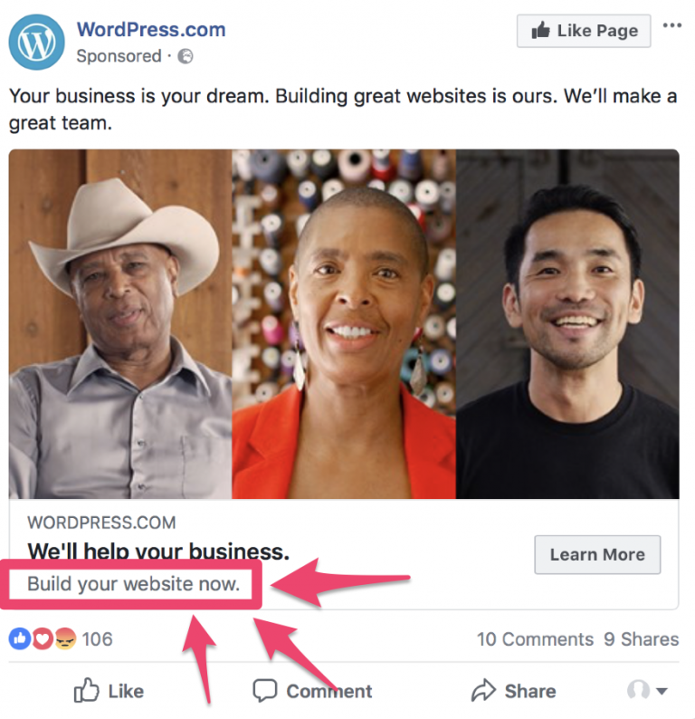 facebook ad split test description
