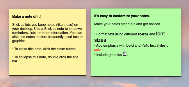 sticky notes app content marketing ideas