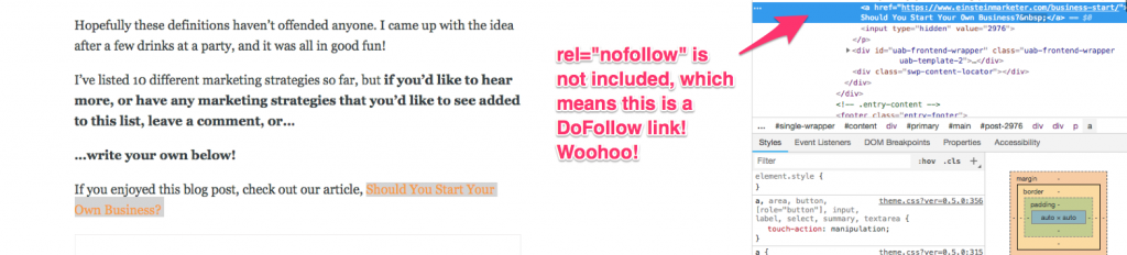 nofollow links