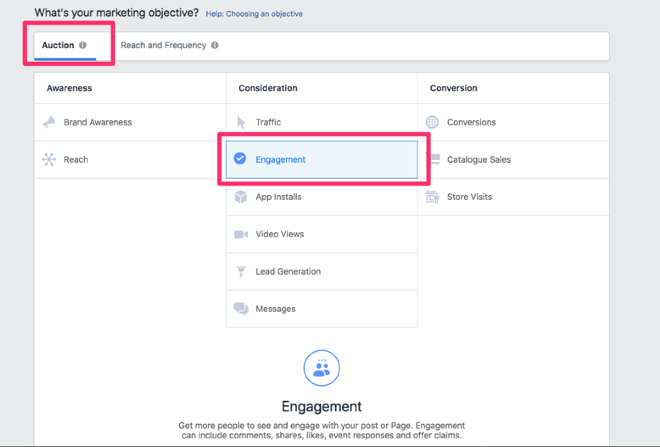 facebook engagement ad local business