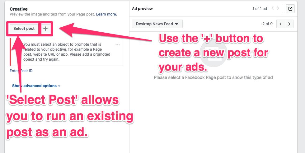 facebook ad local creative