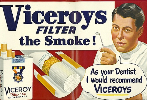 what can advertisers learn viceroy cigarette advert