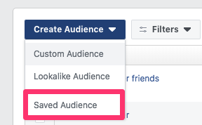 facebook audiences saved audience