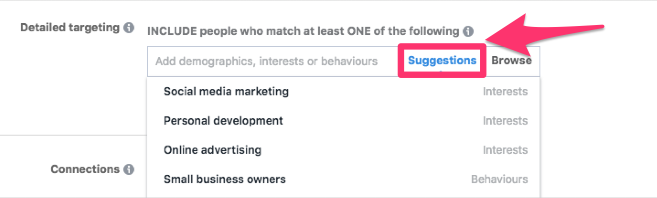 detailed targeting suggestions