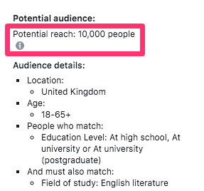 potential audience size