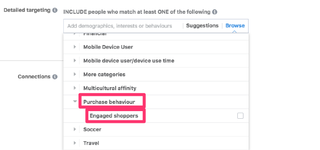 interest based facebook audiences engaged shoppers