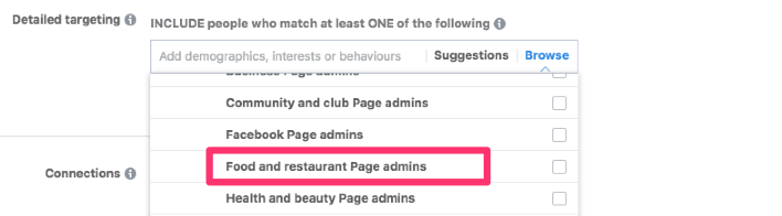 interest based facebook audiences page admins