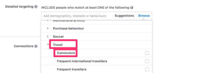 interest based facebook audiences travel