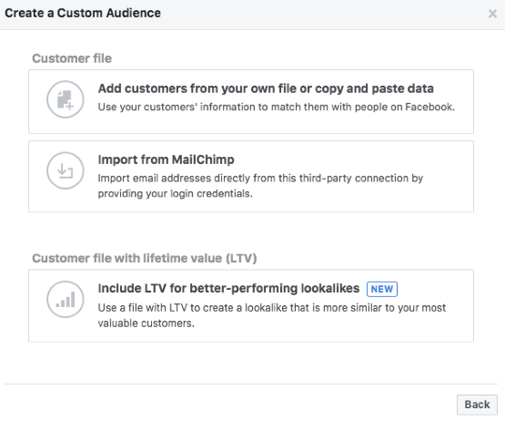 facebook custom audiences customer file