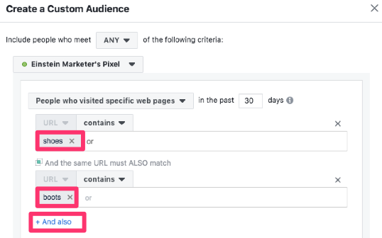 facebook custom audiences website traffic
