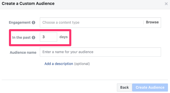 facebook custom audiences engagement video