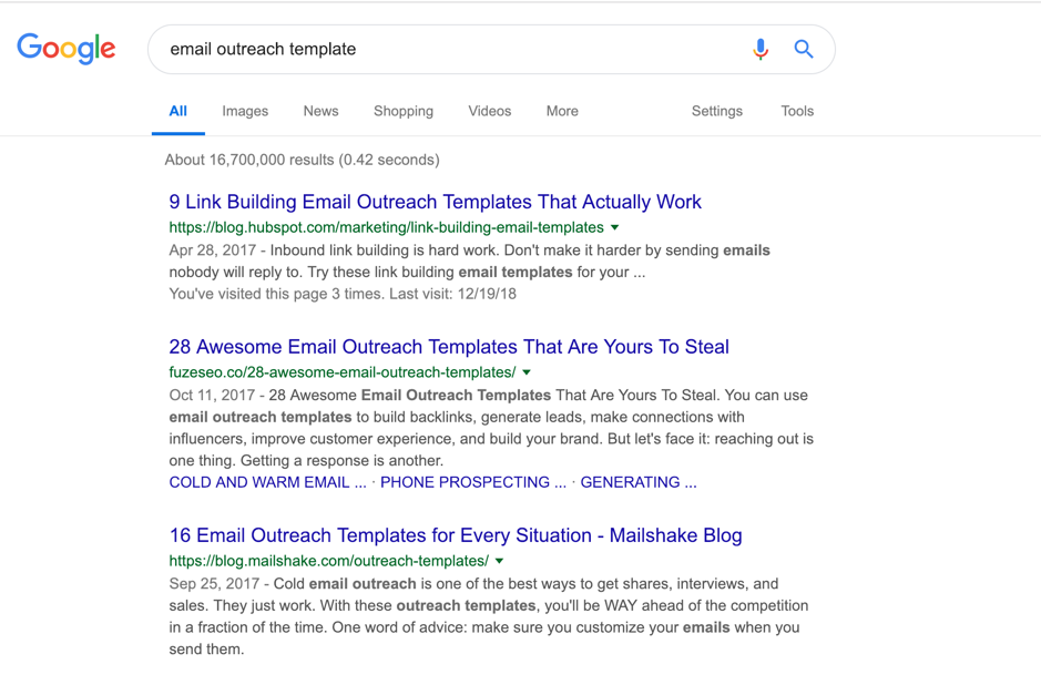 outreach templates google
