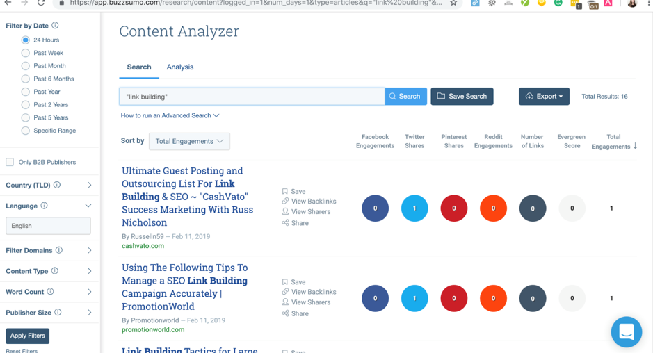outreach buzzsumo