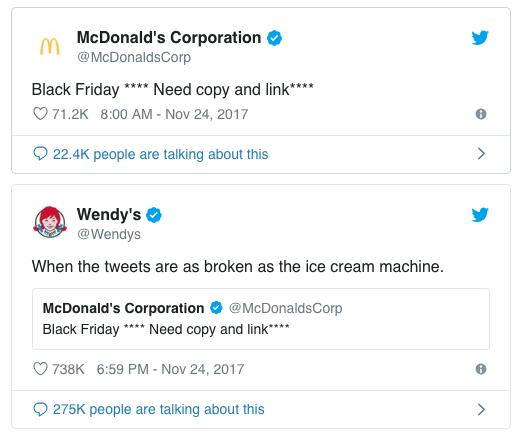 mcdonalds wendy's twitter