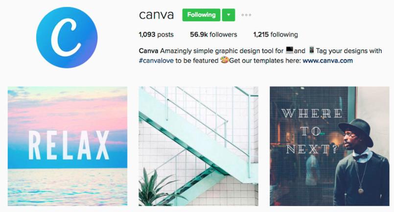 canva instagram profile