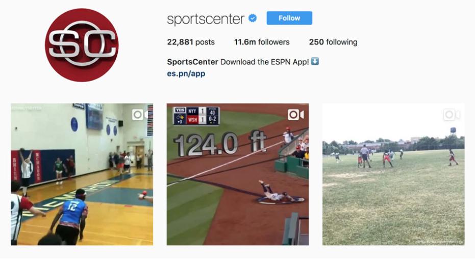 sportscentre instagram profile