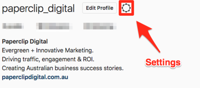 edit instagram profile