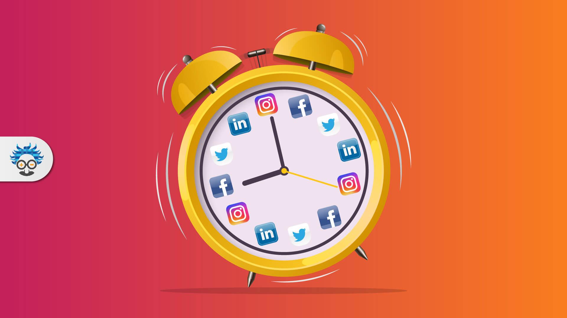 social media posting times