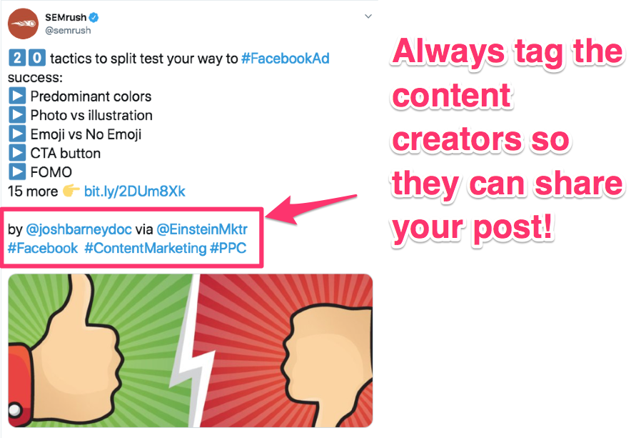 content curation tag