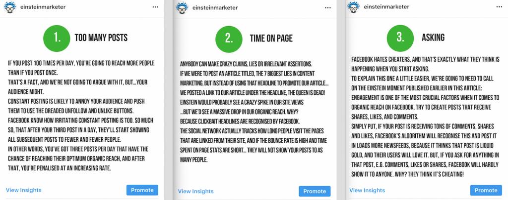 visual slideshow post social media content idea