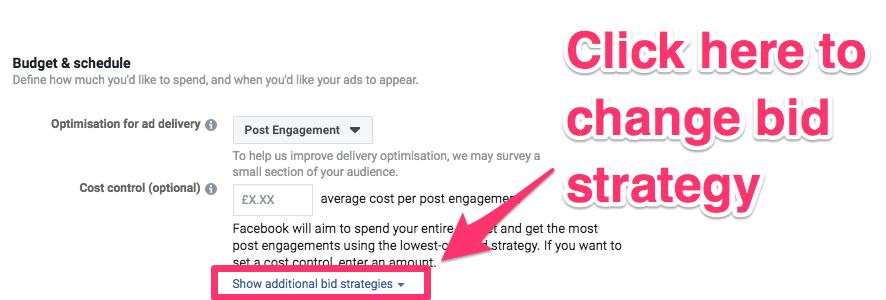facebook ad bid strategy