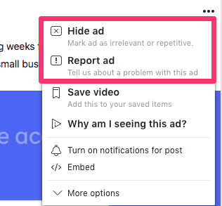 facebook ad negative feedback
