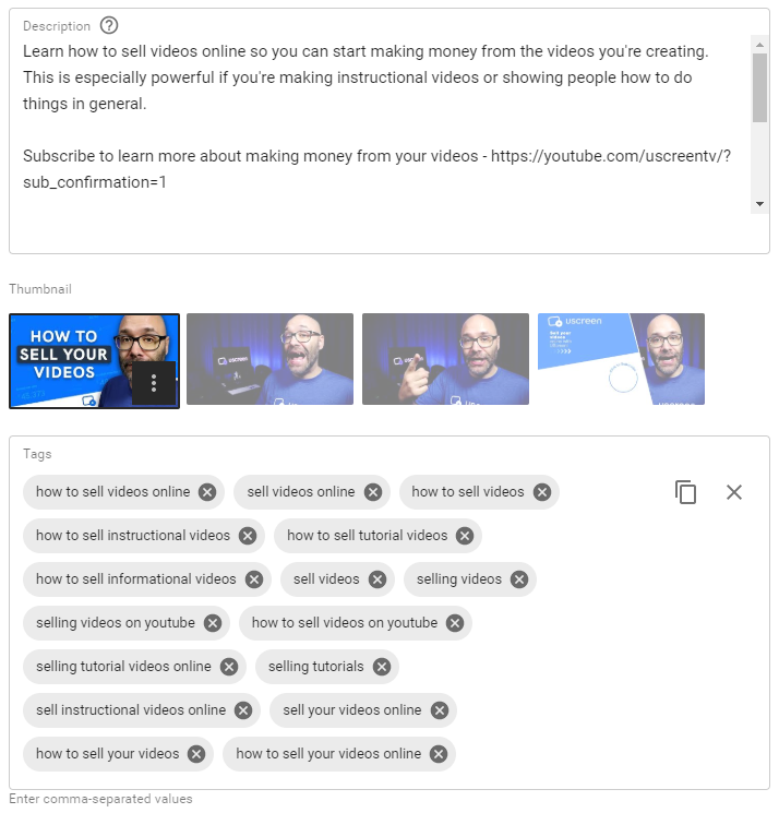 youtube tags for seo