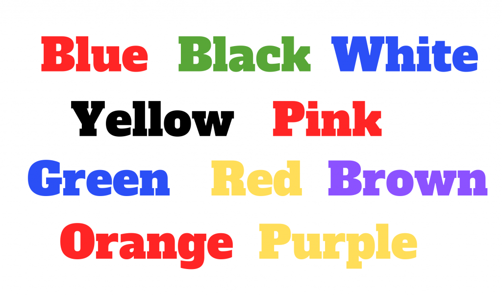 stroop effect priming in marketing