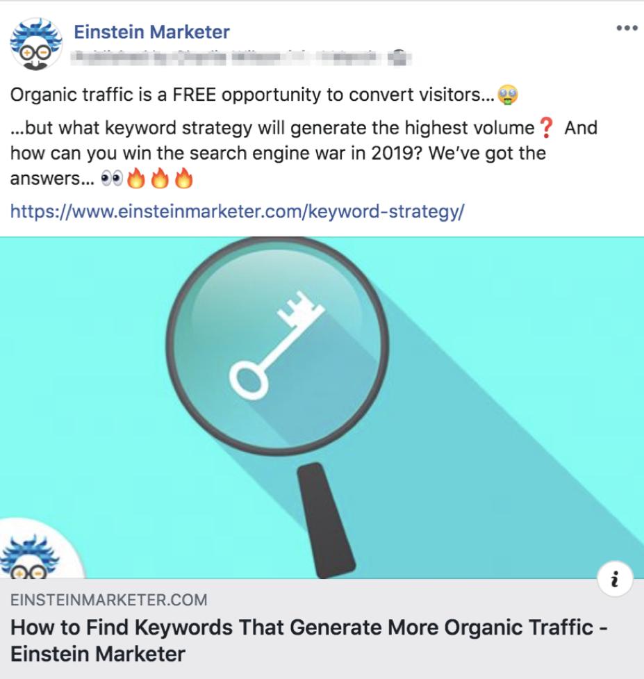 facebook content post