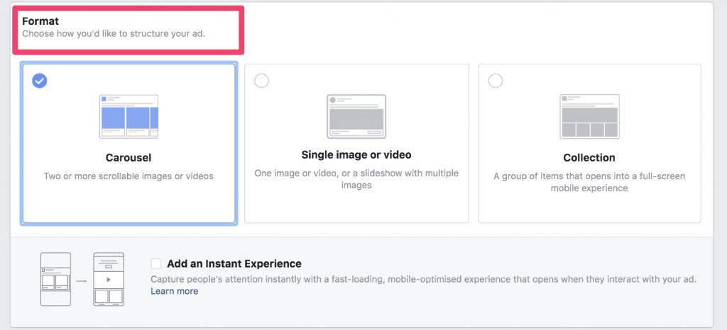 facebook ad creative formats