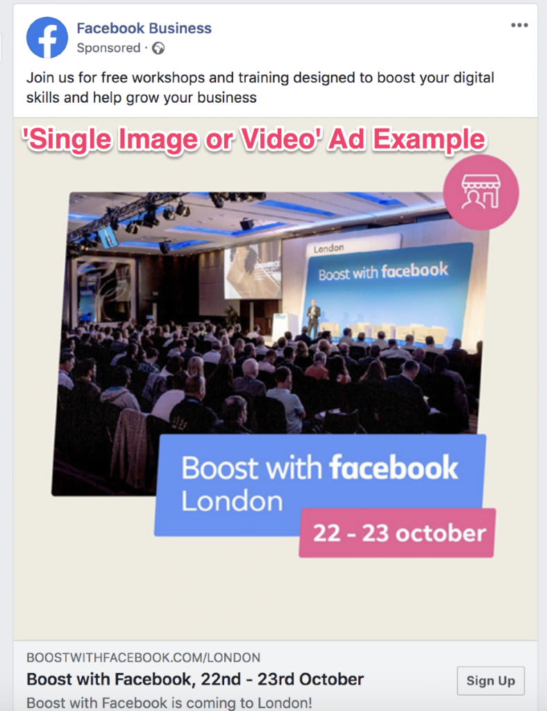 facebook ad creative single image or video
