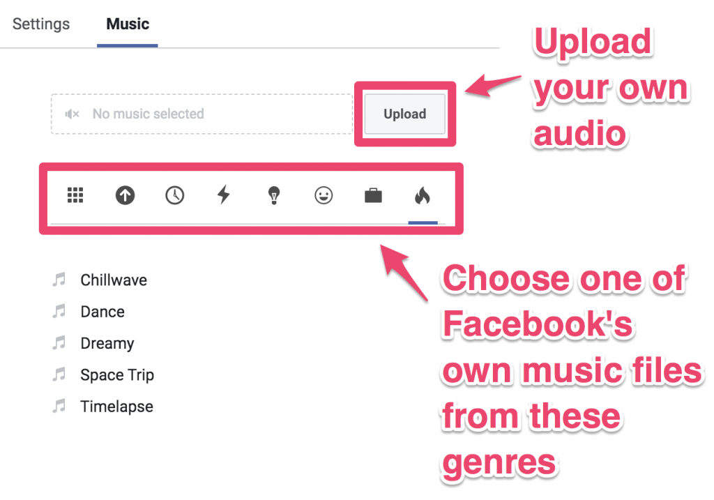 facebook ad create slideshow