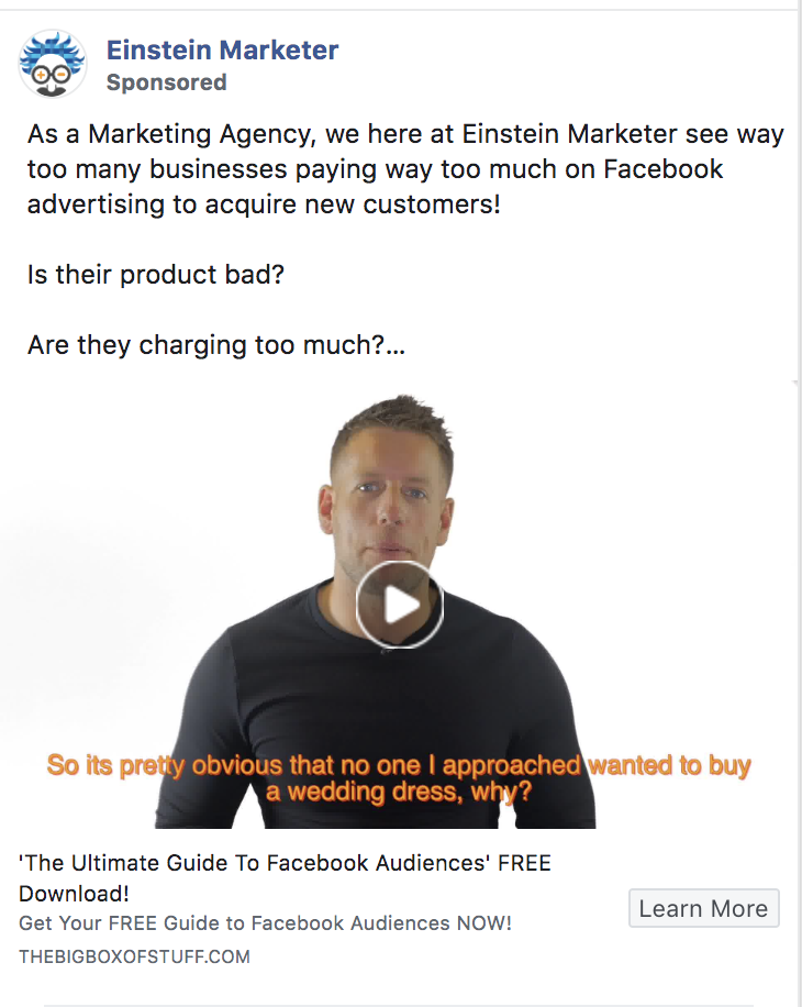 facebook ads video
