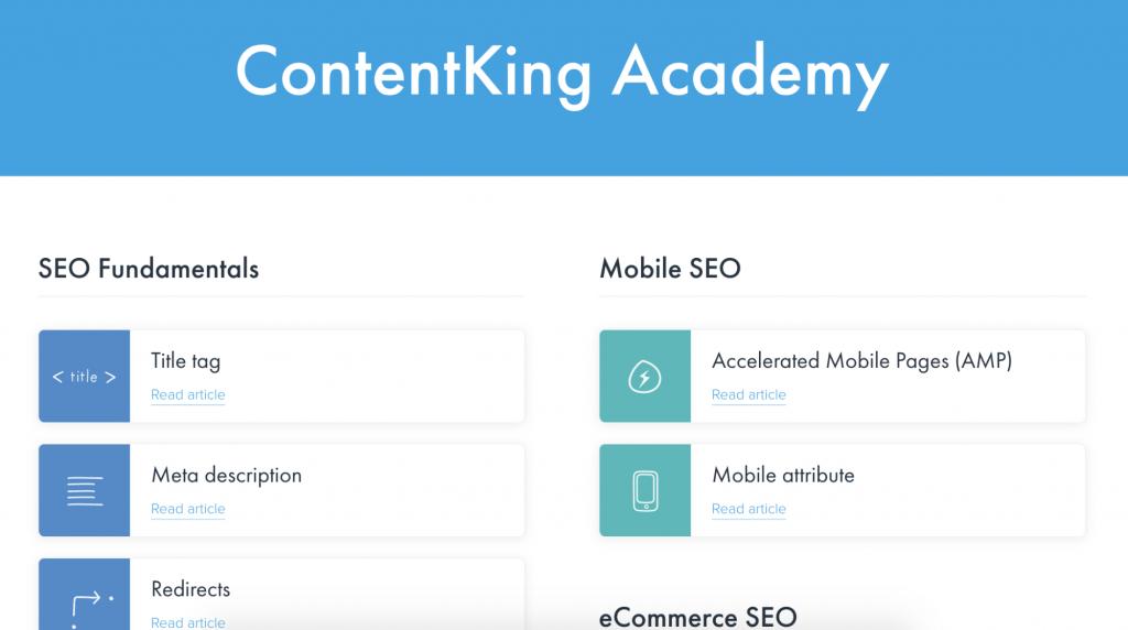 contentking academy