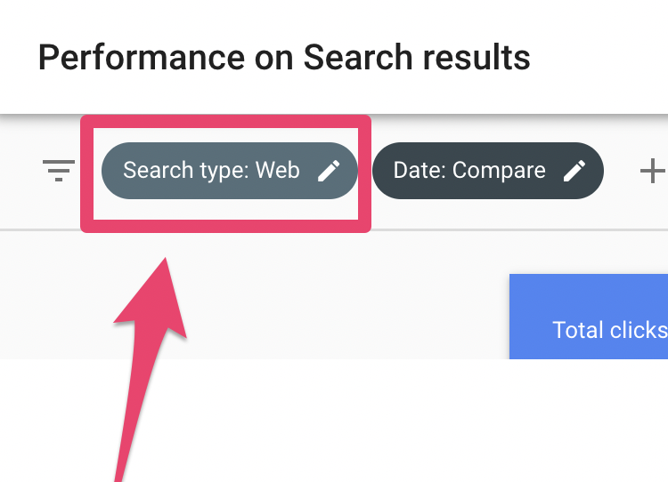 google search console filter results