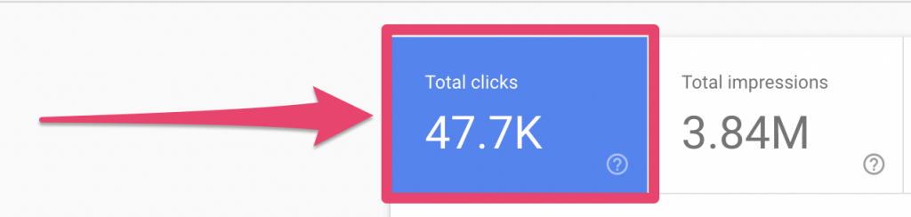 google search console clicks