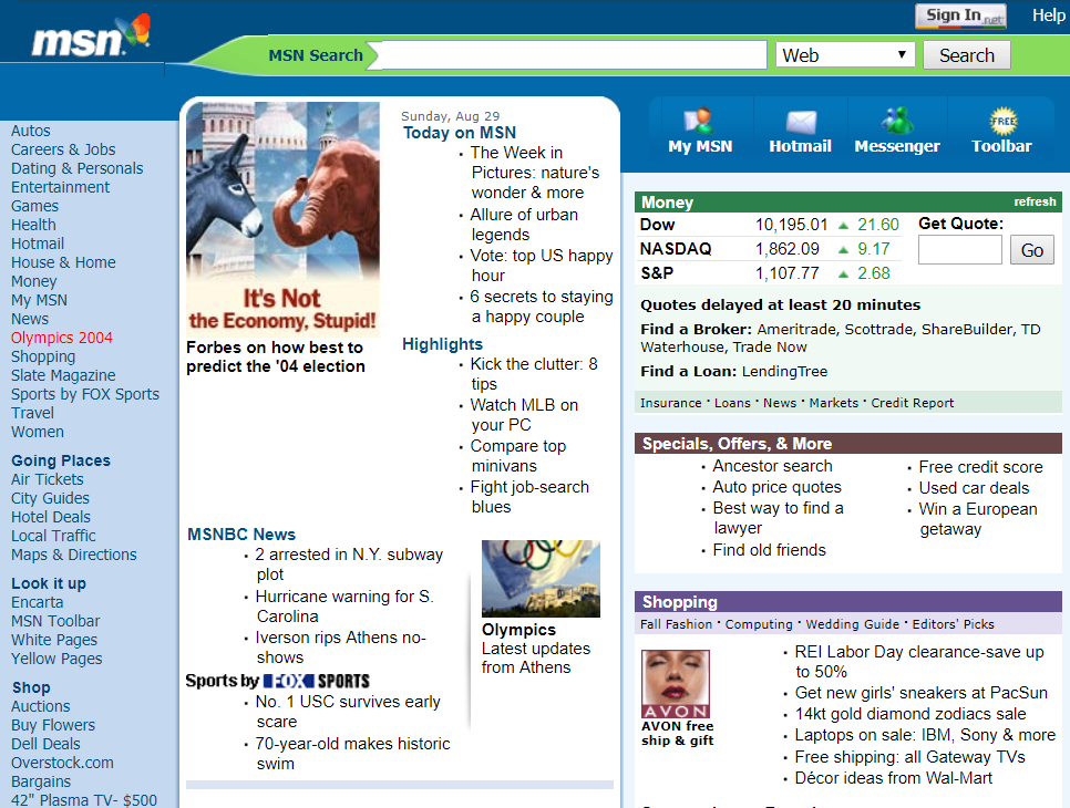 msn search homepage