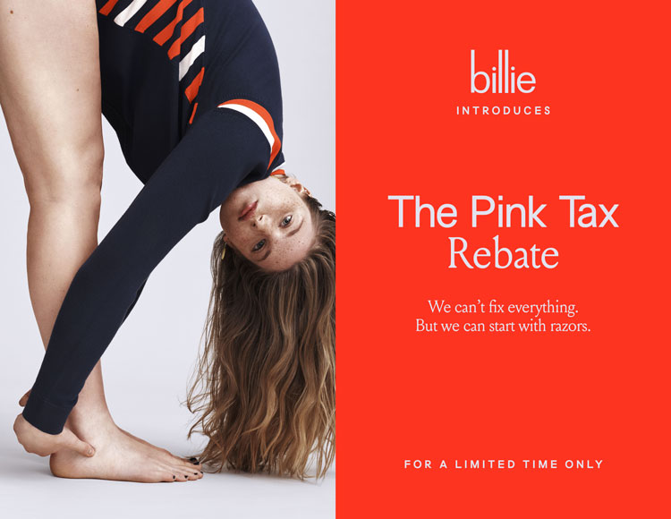 billie pink tax social campaign
