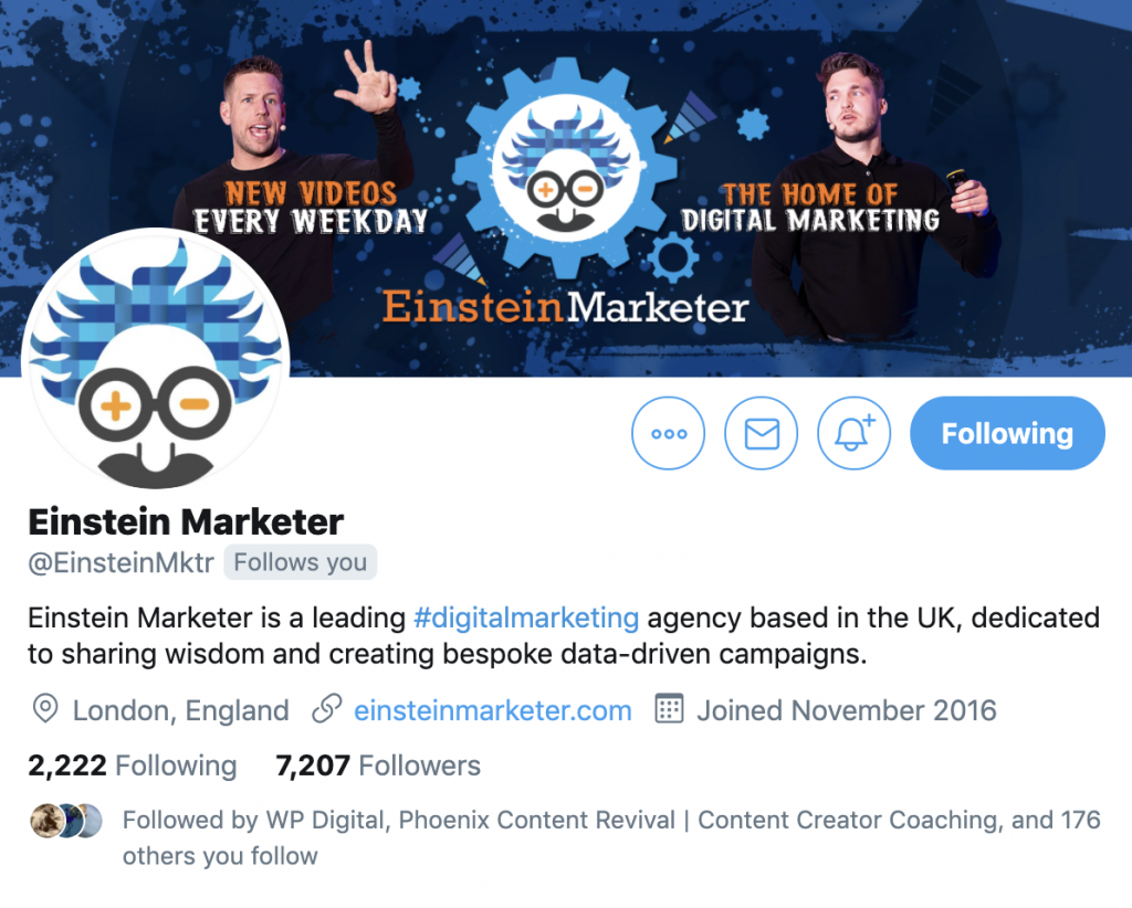 einstein marketer twitter