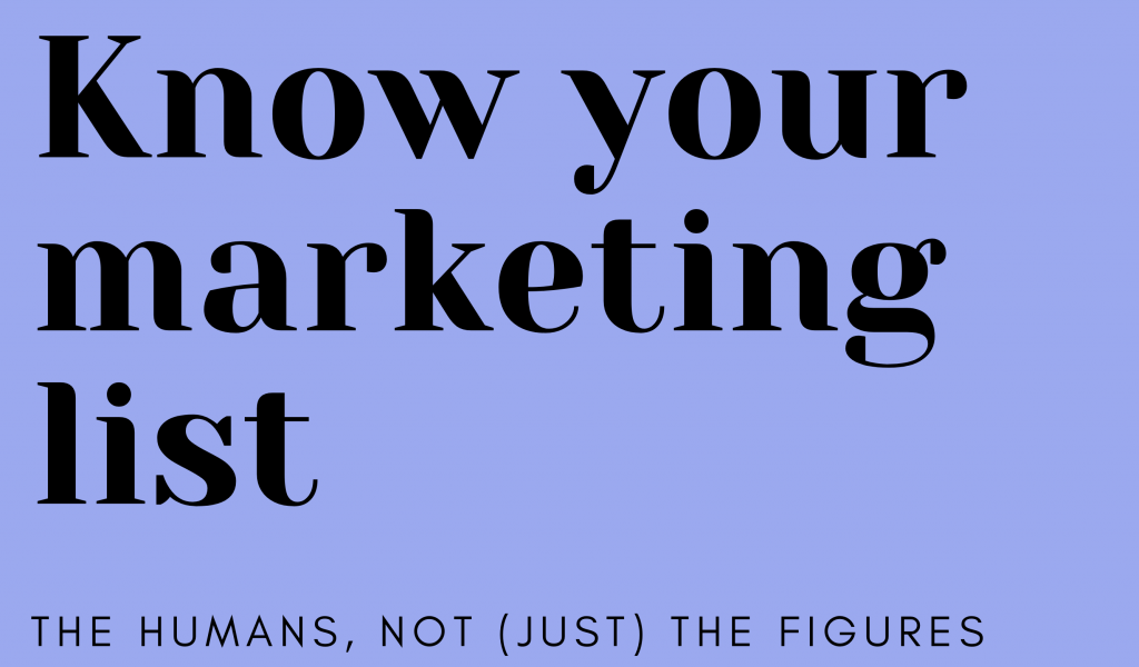 know your marketing list