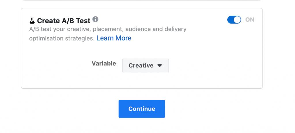 split testing facebook ad campaign