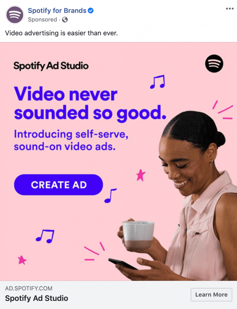 facebook ad example spotify