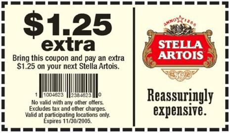 pratfall marketing stella artois