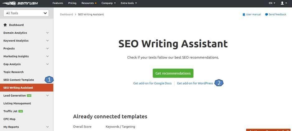 semrush writing assistant