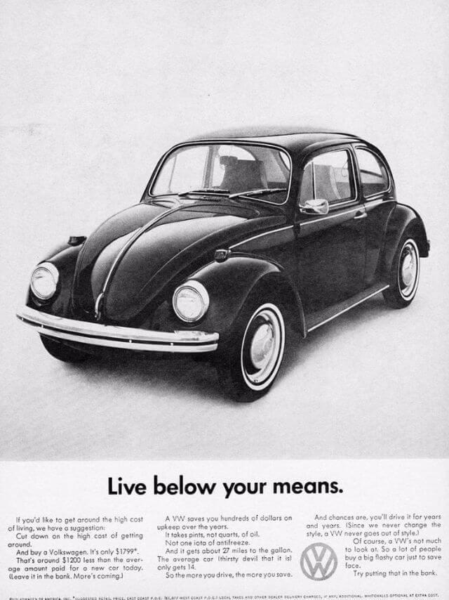 pratfall effect marketing vw beetle 50s