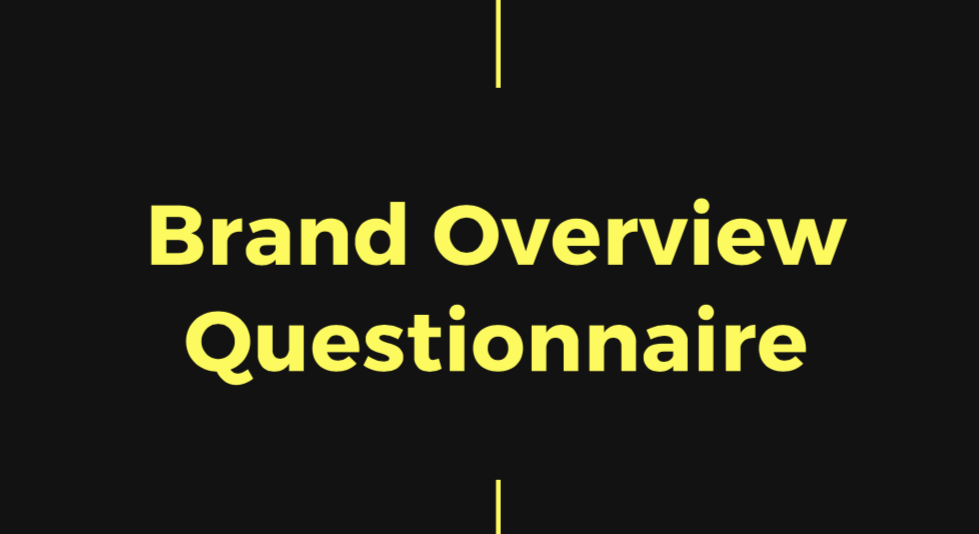 podcast brand questionnaire