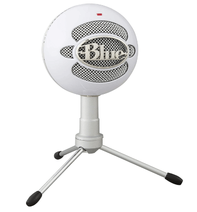 blue snowball microphone podcast equipment
