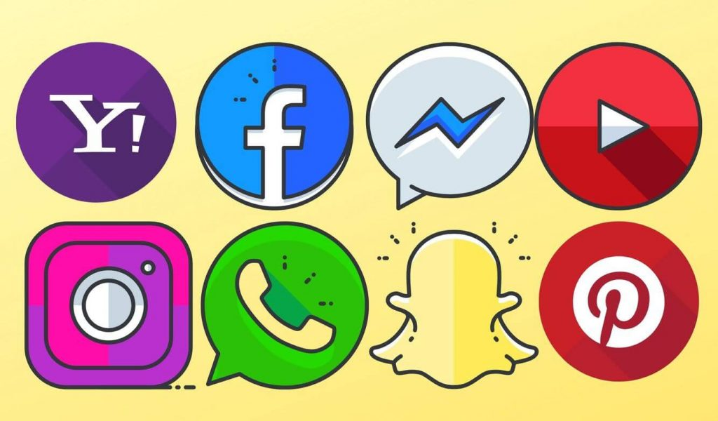 social media logos facebook messenger youtube instagram whatsapp