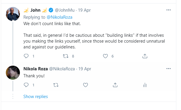twitter chat link building